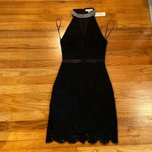 NWT Francesca's Lace Black Dress